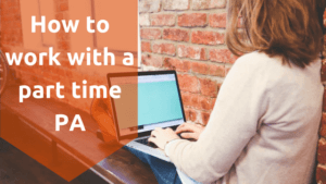 how to work work with a part time PA as personal assistant sits back working on her laptop